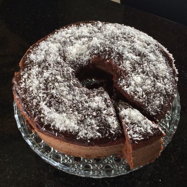 Pedaço de bolo caseiro